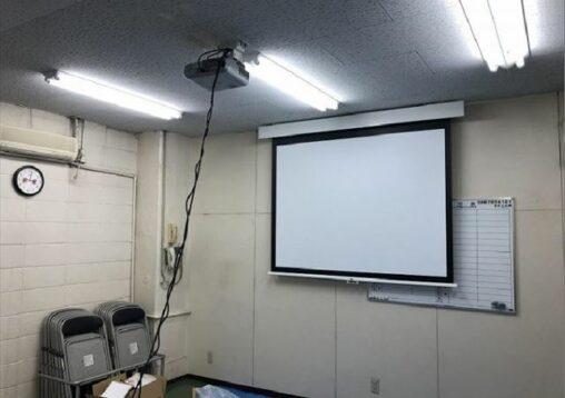プロジェクター・スクリーン設置工事