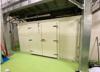 プレハブ冷蔵庫 スペース拡大工事